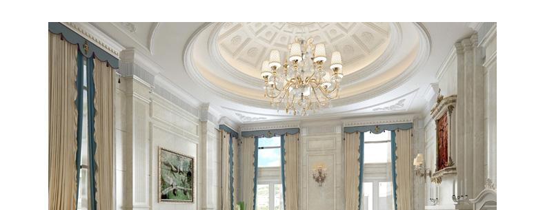 林氏木业欧式豪华沙发小户型法式田园客厅别墅真皮沙发组合2085